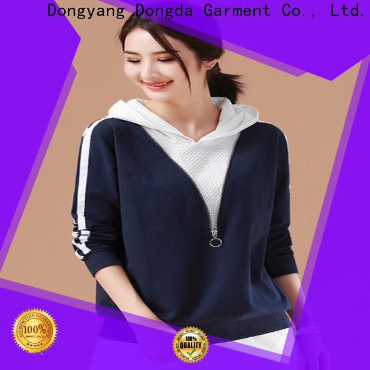 Dongda female ladies sweatshirts manufacturers for international market