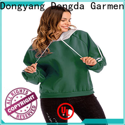Wholesale ladies hoodies single color manufacturers for women