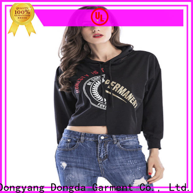 Dongda single color womens sweatshirts factory for international market