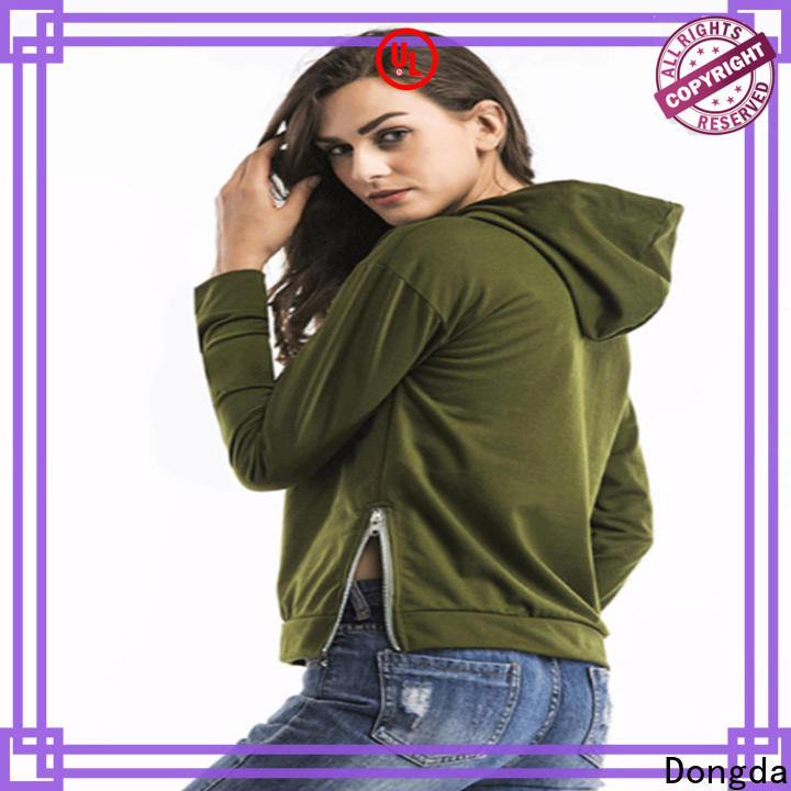 Dongda plaited ladies sweatshirts suppliers for international market
