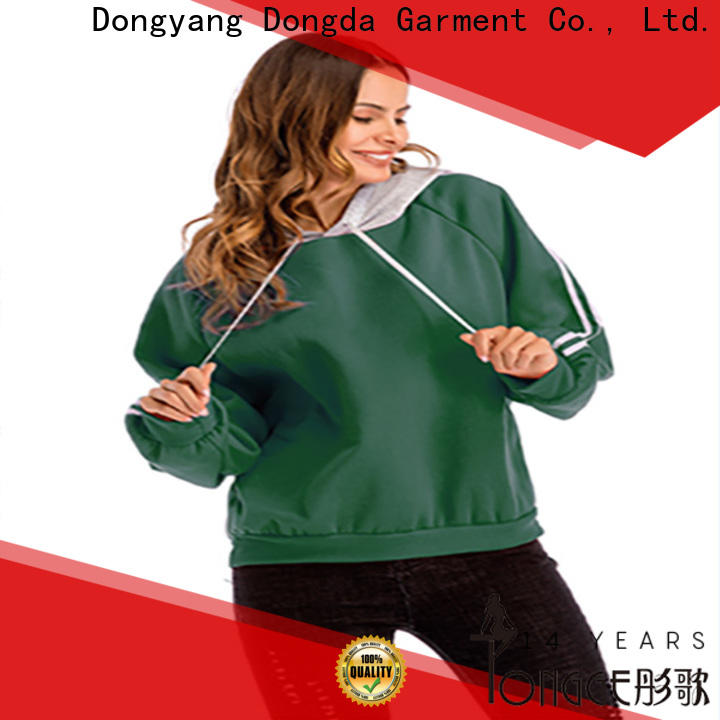 Dongda plaited ladies hoodies for business for international market