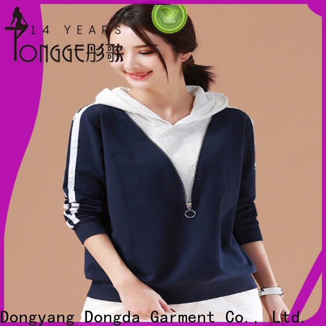 Dongda Latest female hoodies supply for international market