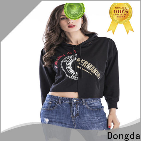 Dongda long sleeved ladies hoodies for sale for international market