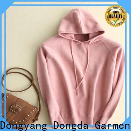 Latest ladies hoodies single color supply for international market