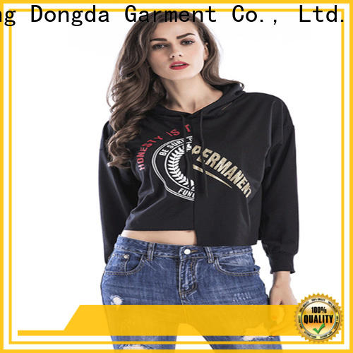 Custom female hoodies graphic suppliers for women
