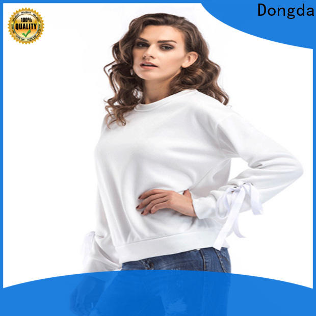 Wholesale womens sweatshirts single color supply for ladies