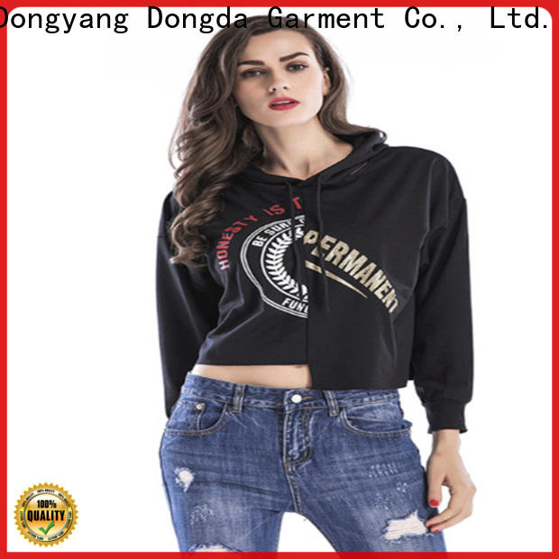 Dongda personality ladies hoodies factory for international market