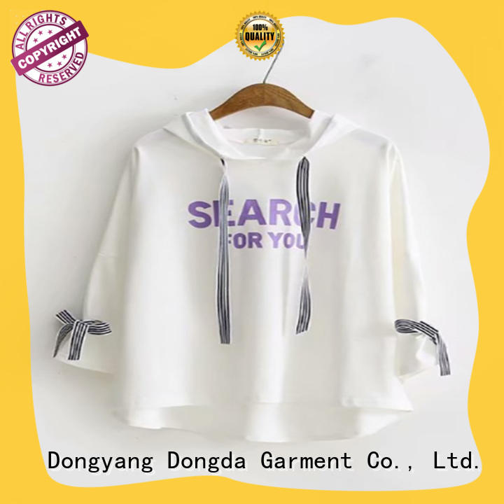 Dongda personality ladies hoodies manufacturers for international market