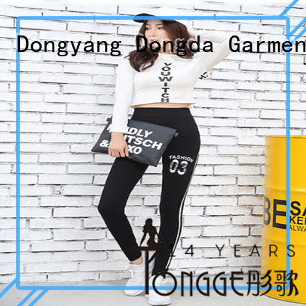 draw string fitness pants for pear shaped Dongda