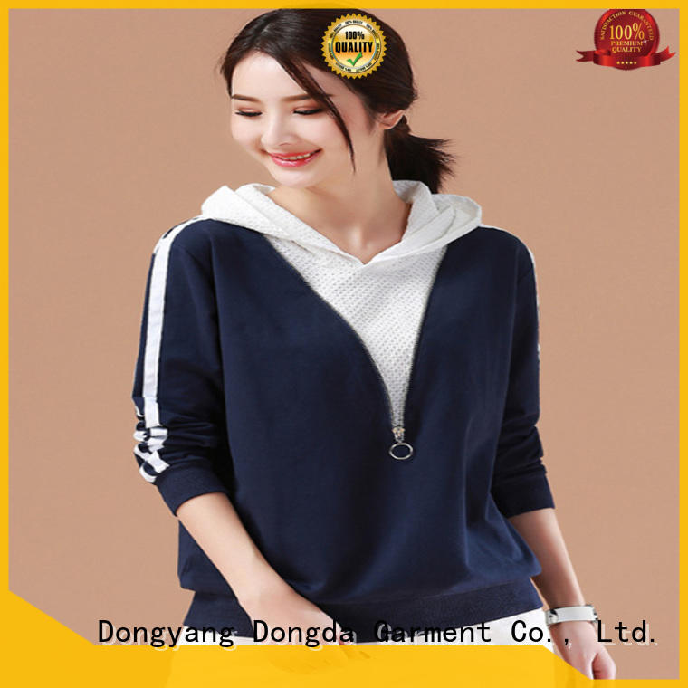 Dongda long sleeved ladies sweatshirts manufacturers for ladies