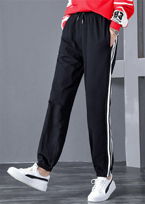 Harajuku Oversize Black Casual Exercise Pants