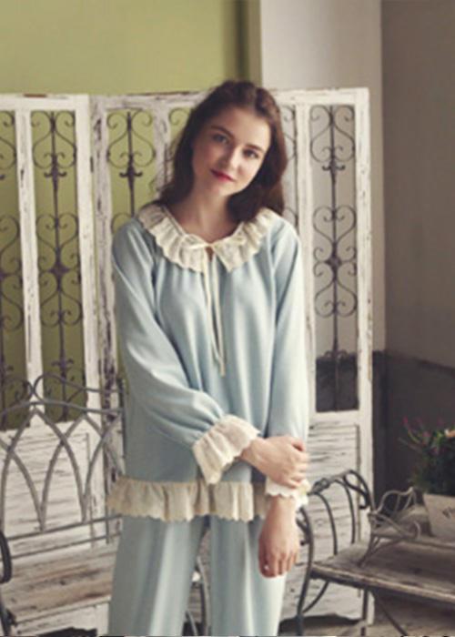 Pure Cotton Simple Retro Pajama Set
