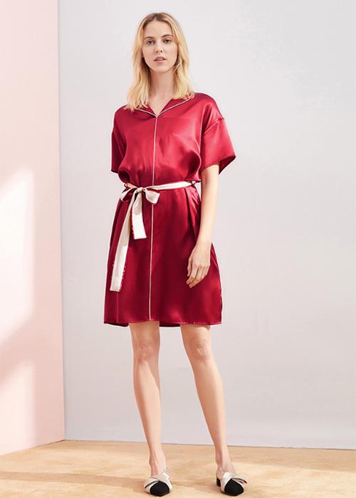 16mm Plain Satin Silk Sleepwear Sets