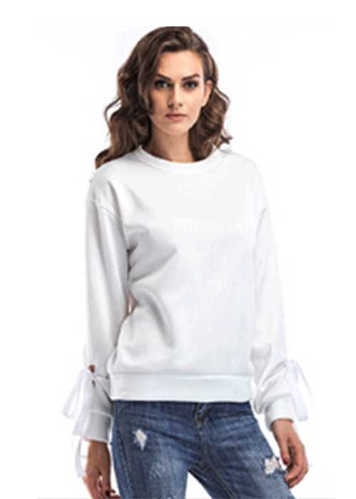 Wholesale womens sweatshirts single color supply for ladies-2