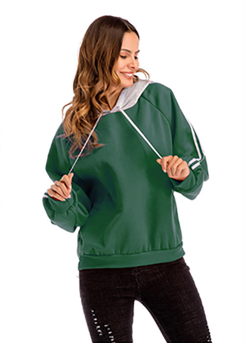 Mixed Color Womens Hooded Sweatshirt
