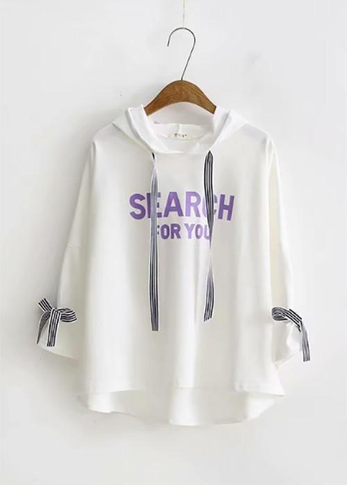 Over-size Graphic Print Sweatshirt