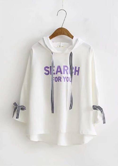 Over-size Graphic Print Sweatshirt