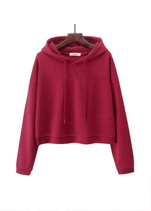Over-size Long-sleeved Short Ladies Hoodies