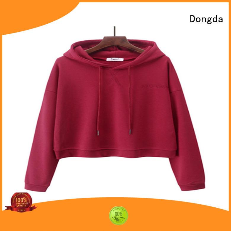 Dongda plaited ladies sweatshirts factory for international market