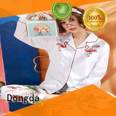 Dongda v-neck ladies pyjama sets manufacturers for women