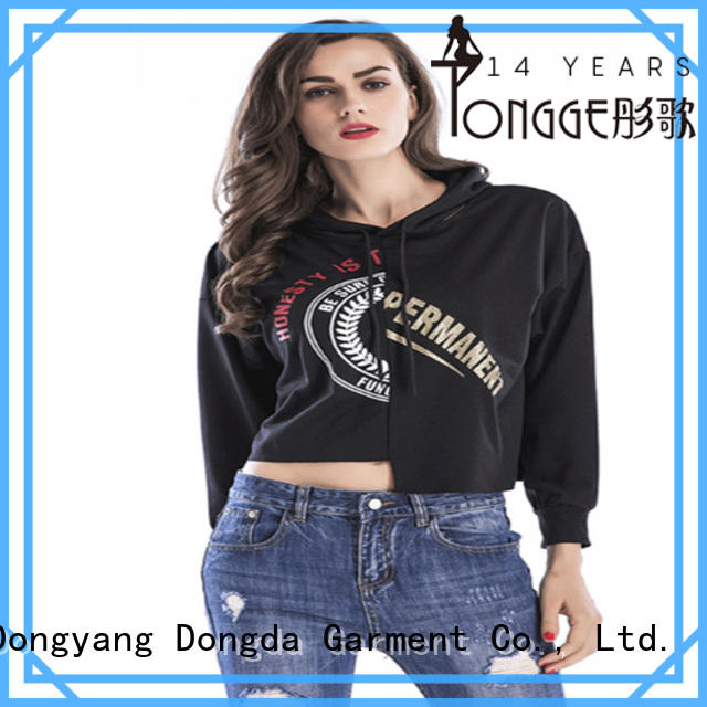 girls graphic pullover hoodies from China for women Dongda