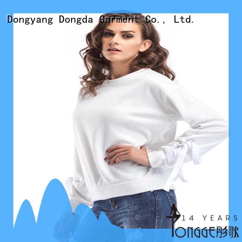 Dongda plaited female hoodies wholesale for international market