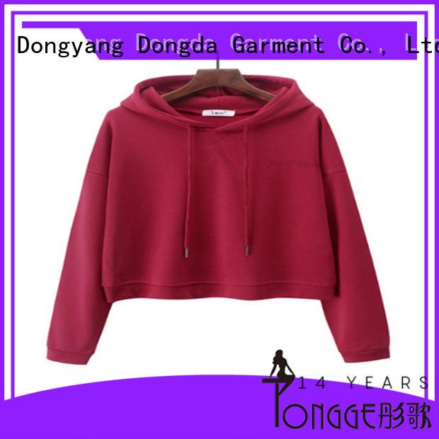 Dongda new design girls graphic hoodies hooded for women