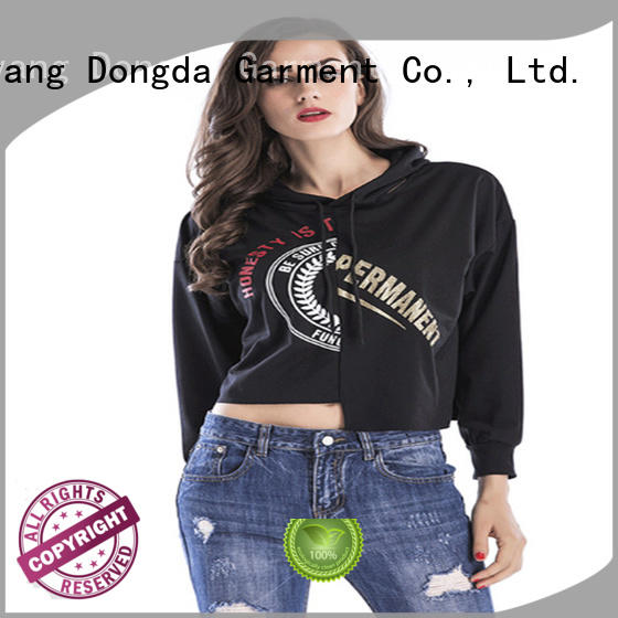 Custom female hoodies design for business for ladies