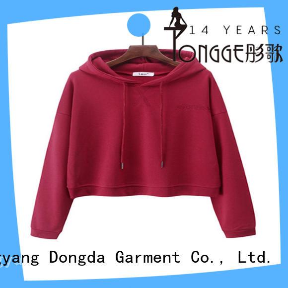 Dongda new design graphic design hoodies wholesale for women