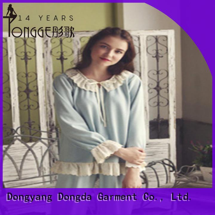 Dongda EXW price silk pajamas for women satin for ladies