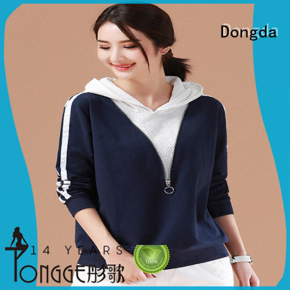 Dongda plaited ladies hoodies supply for ladies