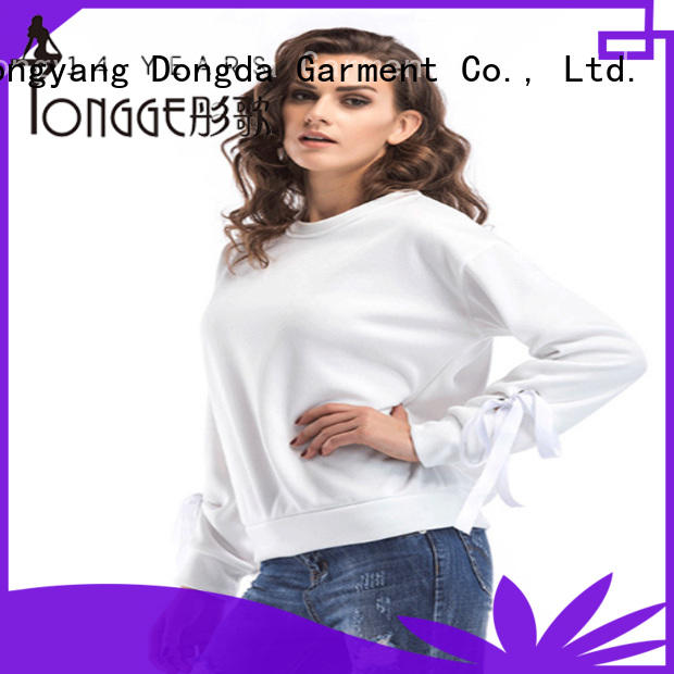 Dongda high quality oversized sweatshirt print for ladies
