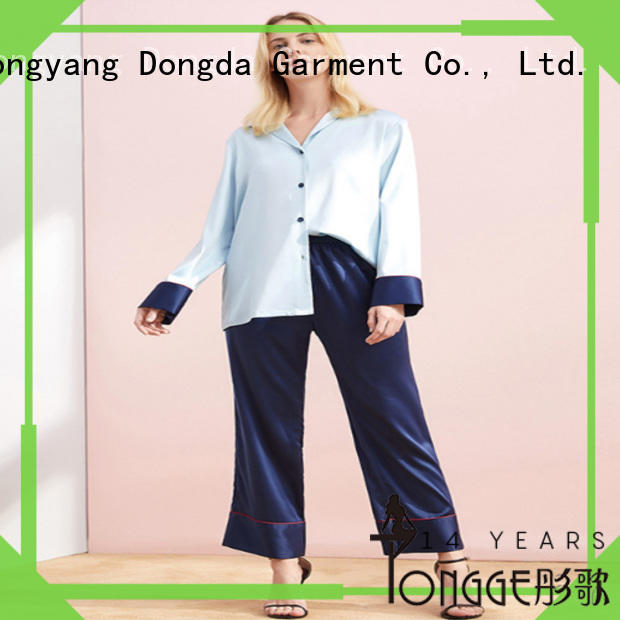 Dongda FOB price pajama wholesale suppliers imitated fabric for ladies
