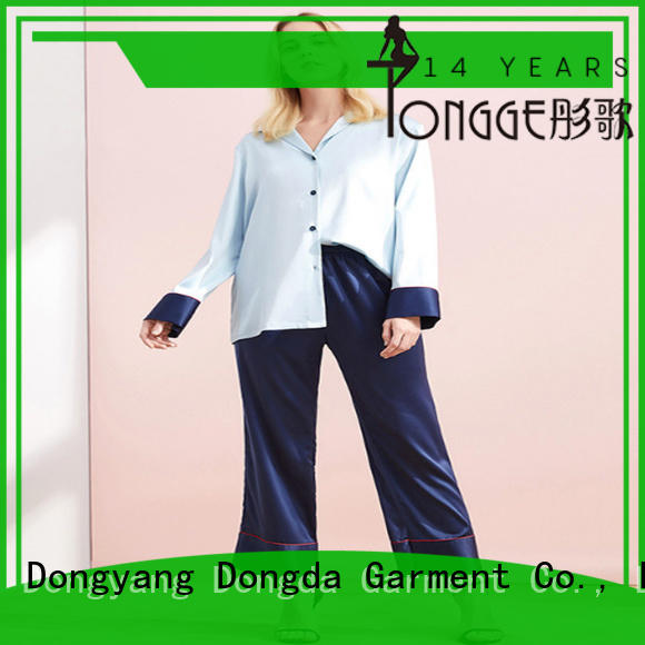 plain cotton pajamas OEM service for women Dongda