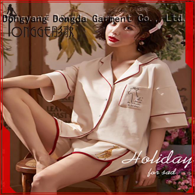 imitated fabric ladies nightwear suppliers manufacturer for sale Dongda