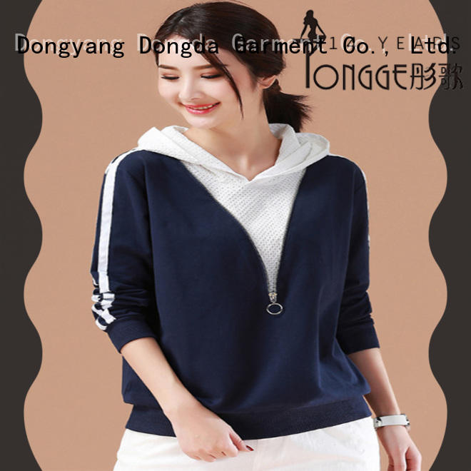 graphic sweaters womens single color for international market Dongda