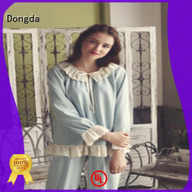 Dongda long sleeved ladies pjs for sale for ladies