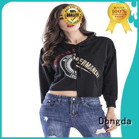 Dongda short female hoodies suppliers for international market