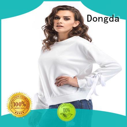 Dongda hooded ladies sweatshirts suppliers for international market