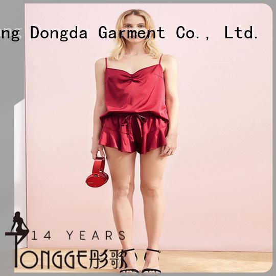Dongda v-neck womens sleep dress OEM service for ladies