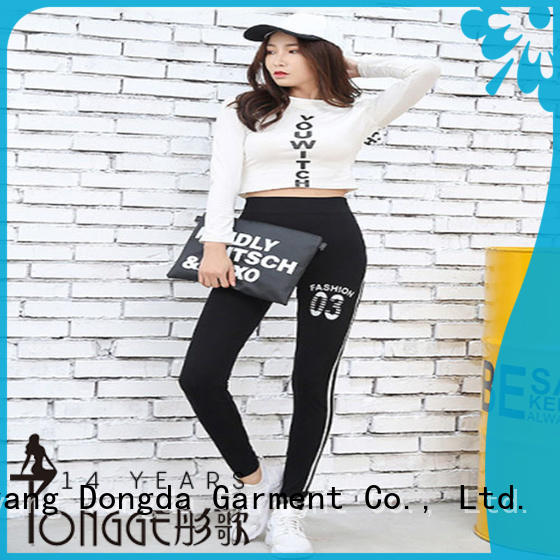 Dongda high elastic gym trousers from China for petites