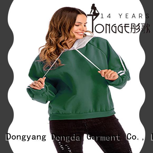 Dongda high quality womens sweatshirts customized for international market