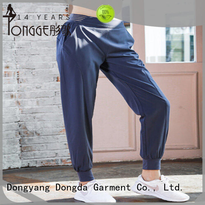 Custom fitness pants woven for business for summer