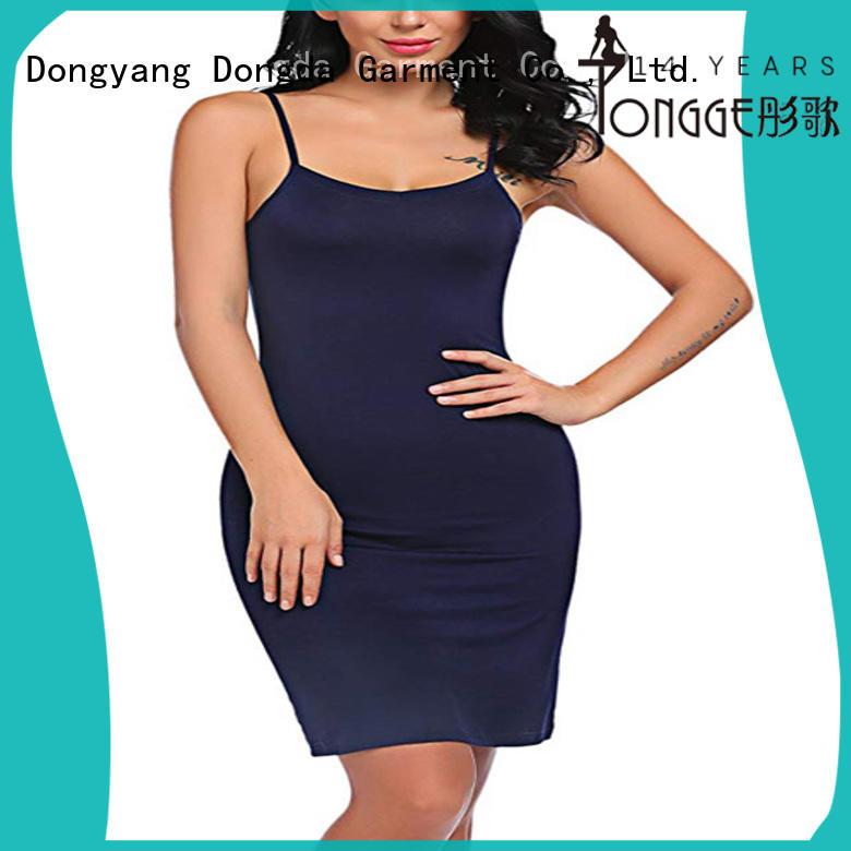 Dongda EXW price silk pajama set skirt for ladies