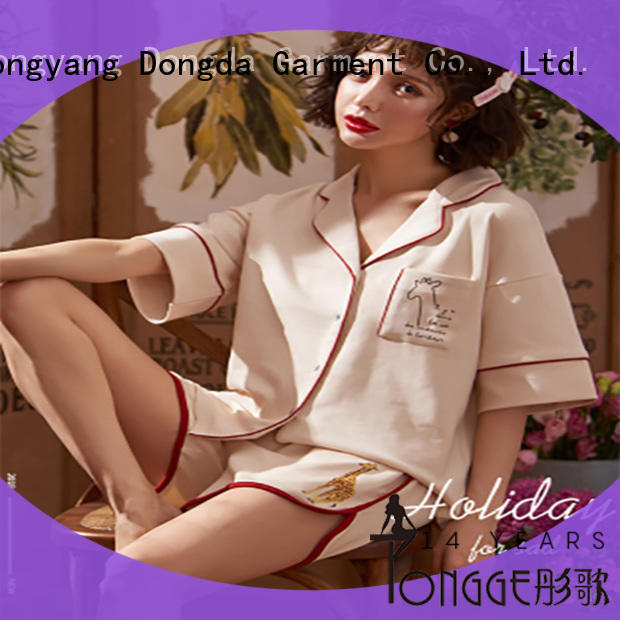 Dongda EXW price sleepwear manufacturer fiber for ladies