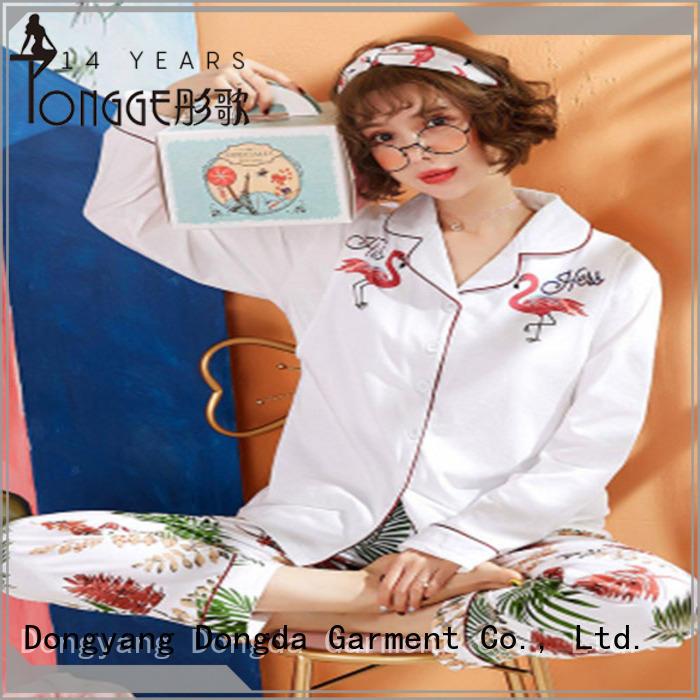 Dongda EXW price womens sleepwear silk for ladies