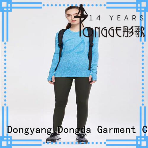 black exercise tights from China for sweating Dongda