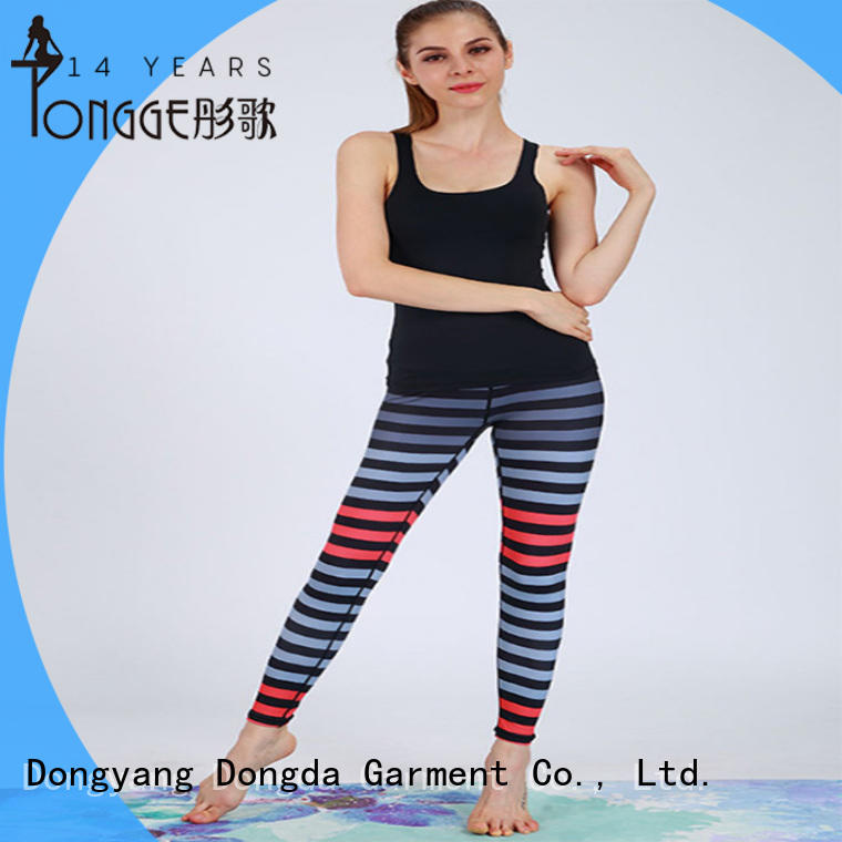 Dongda running custom printed yoga pants from China for pear shaped