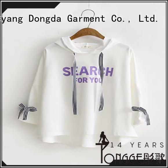 ladies hoodies plaited for international market Dongda