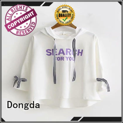 Dongda plaited graphic sweatshirts manufacturers for women